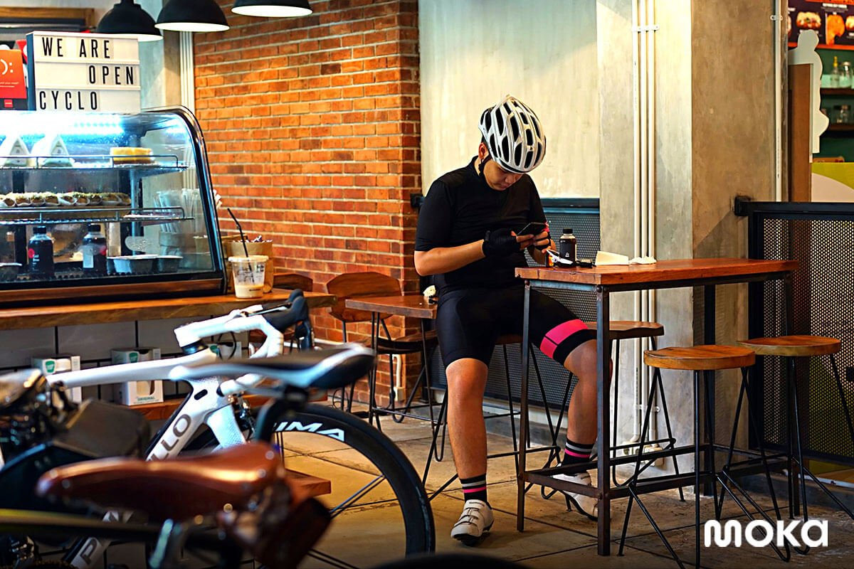 Cyclo Coffee & Apparel, which is a bicycle community coffee shop