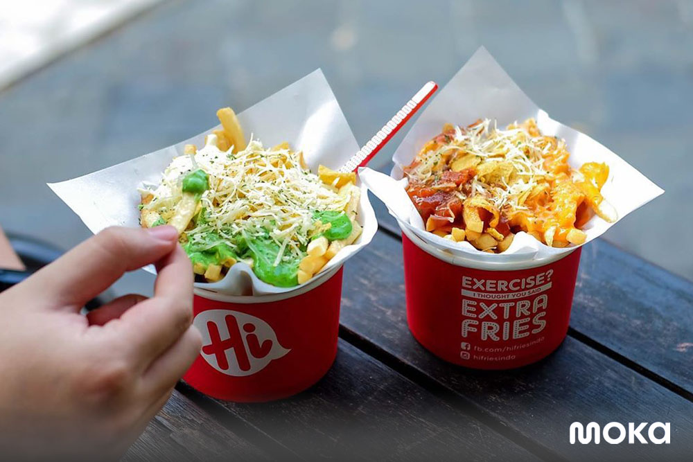 Hi Fries, who has succeeded in turning a small outlet into a franchise business with the help of features from Moka
