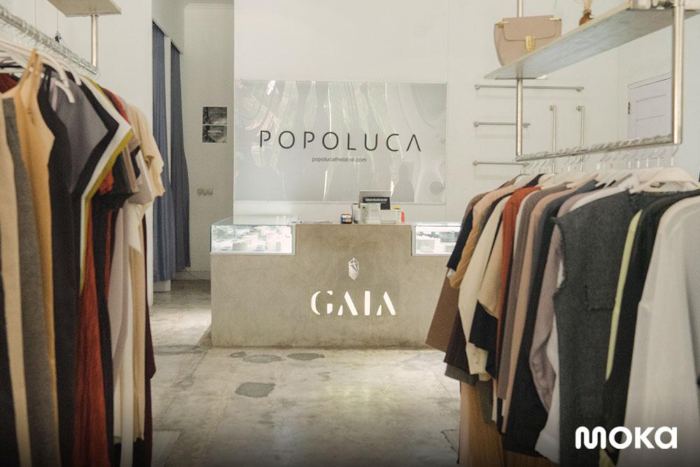 Popluca The Label yang telah menggunakan Moka adalah salah satu brand lokal yang berhasil melakukan penjualan hingga luar negri