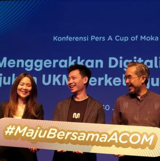 Haryanto Tanjo as founder and CEO of Moka in the A Cup of Moka event to develop MSEs through digital technology